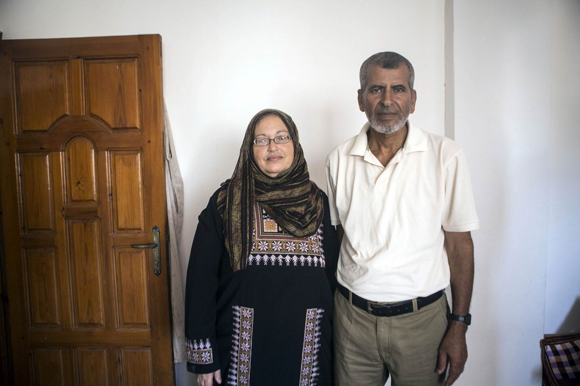 Both Buseina and Mustafa held on to their usual daily habits throughout the Israeli offensive. Buseina would get up before the morning prayer to make tea, and Mustafa would join her in the kitchen soon after.