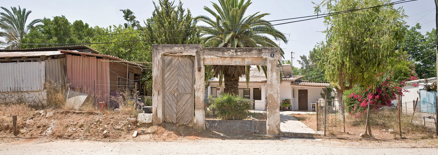 Remains of al-Abbasiyye village, in Yehud; the Jewish town has been built on top of the destroyed Palestinian village, 2010. Photo courtesy of Deborah Bright.