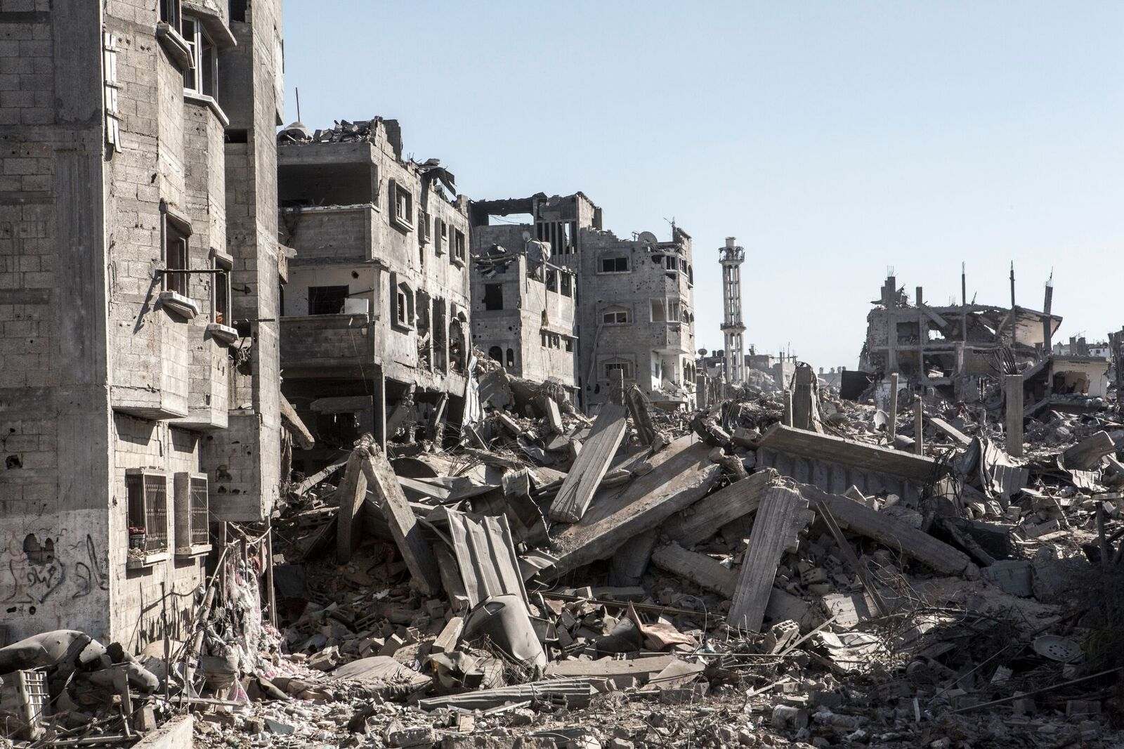 26 JULY 2014 Destroyed neighbourhood of Shuja'iyya, east of Gaza city