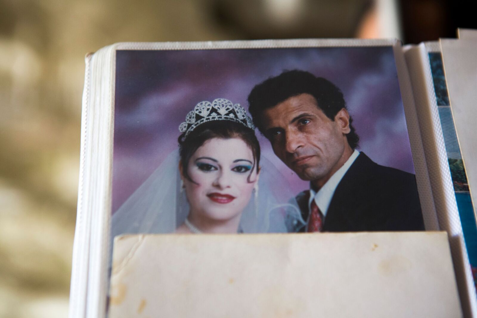 Ibrahim and Taghrid on their wedding day.
