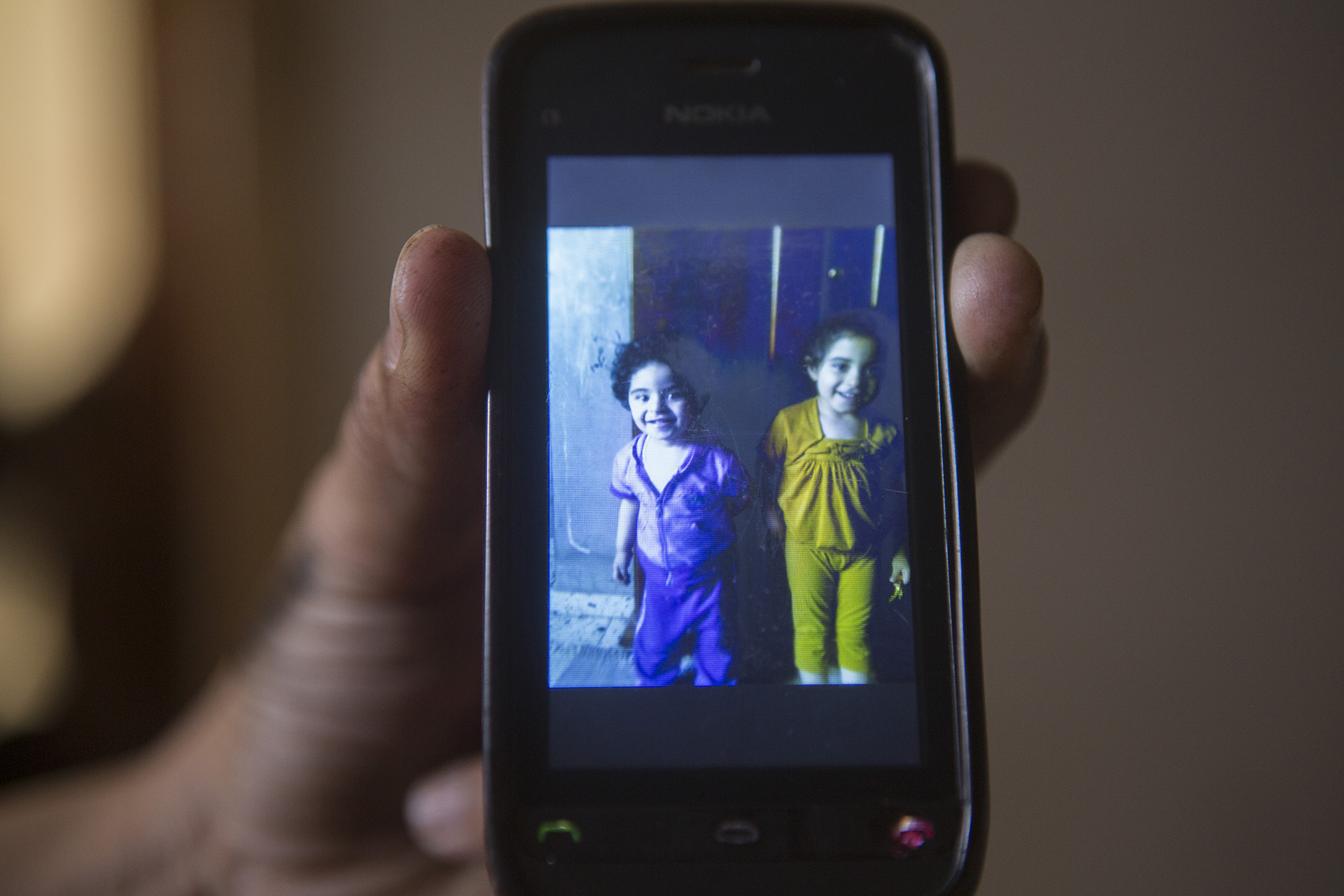 Photos of Hala and Jana, Mohammed's nieces, killed together with their parents in the Israeli airstrike on the Maadi house.