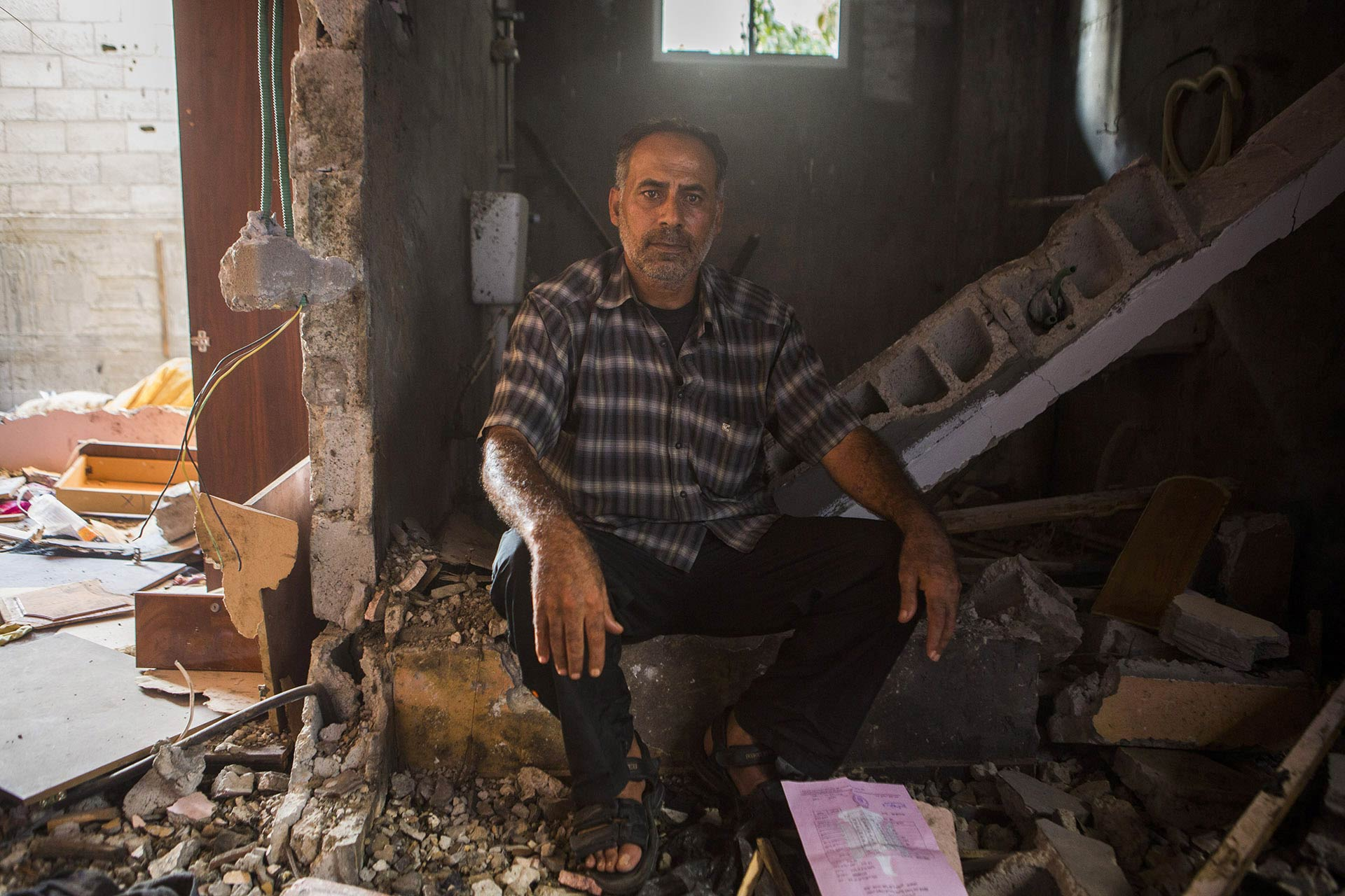 """We are homeless now. I demand justice, I demand that an international court hold Israel accountable, because they murdered our family, with no warning. All I want is to find a prosecutor who will take this case, but no one is looking into it,"" Abdelkarim says."